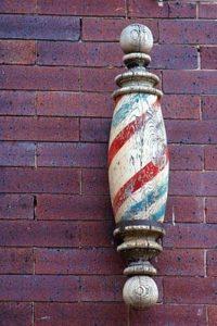 Old Wooden Barber Pole. Image: Pinterest.