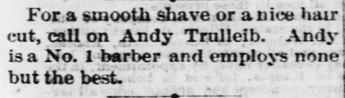Smooth Shave ad. Atchison Daily Patriot of Atchison, Kansas on July 25, 1870