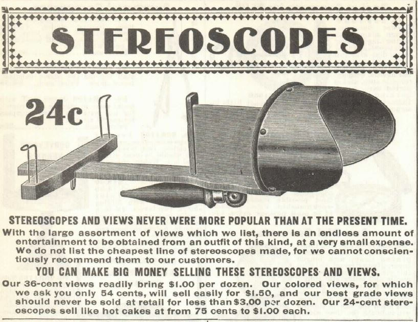 Stereoscopes Header. Sears 1902