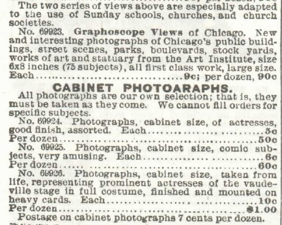 Stereoscopes Part 8. Sears 1897