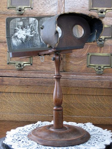 Stereoscopes. Antique 1850s. Image: courtesy of Pinterest.