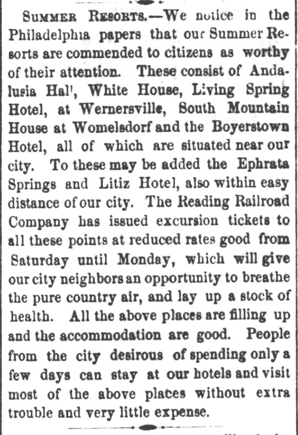 Reading Times of Reading, Pennsylvania, on May 14, 1865.