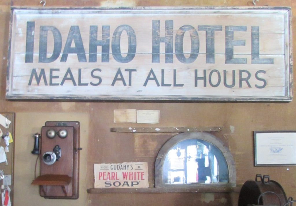 TELEPHONE Idaho Hotel in old check-in area