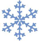 blue snowflake decroative
