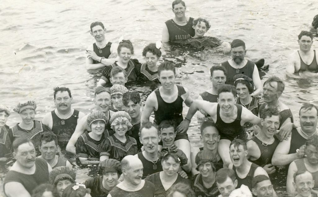 SaltAir Resort, early 20th Century. Kristin's great-great aunt and her husband are somewhere among this happy crowd.