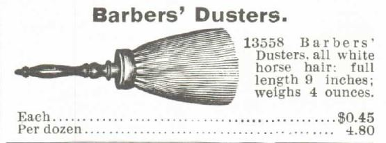 Barber's Duster. 1895 Montgomery Ward Spring and Summer