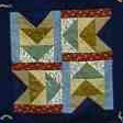 Flying Geese Quilt Block from The Edwards Family and Genealogical Center.