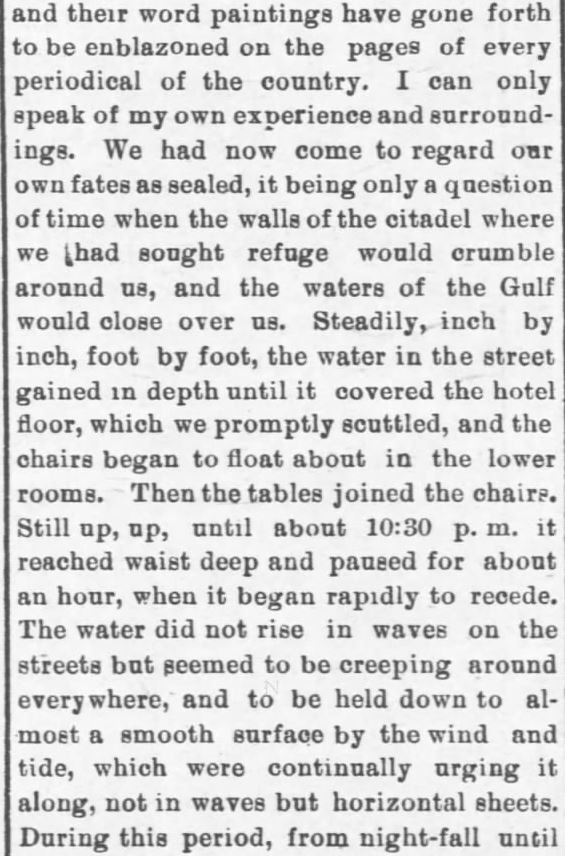 Galveston Storm Part 10. Salina Daily Republican-Journal of Salina, Kansas, September 18, 1900