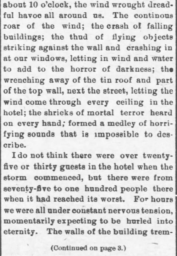 Galveston Storm Part 11. Salina Daily Republican-Journal of Salina, Kansas, September 18, 1900