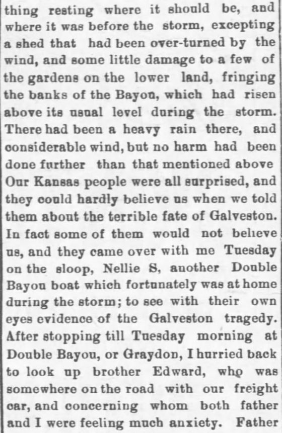 Galveston Storm Part 15. Salina Daily Republican-Journal of Salina, Kansas, September 18, 1900