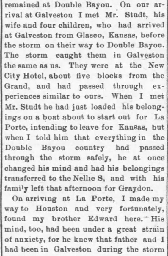 Galveston Storm Part 16. Salina Daily Republican-Journal of Salina, Kansas, September 18, 1900