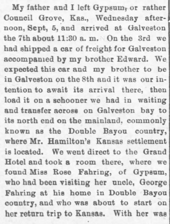 Galveston Storm Part 2. Salina Daily Republican-Journal of Salina, Kansas, September 18, 1900