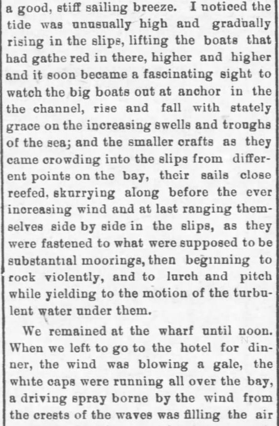 Galveston Storm Part 5. Salina Daily Republican-Journal of Salina, Kansas, September 18, 1900