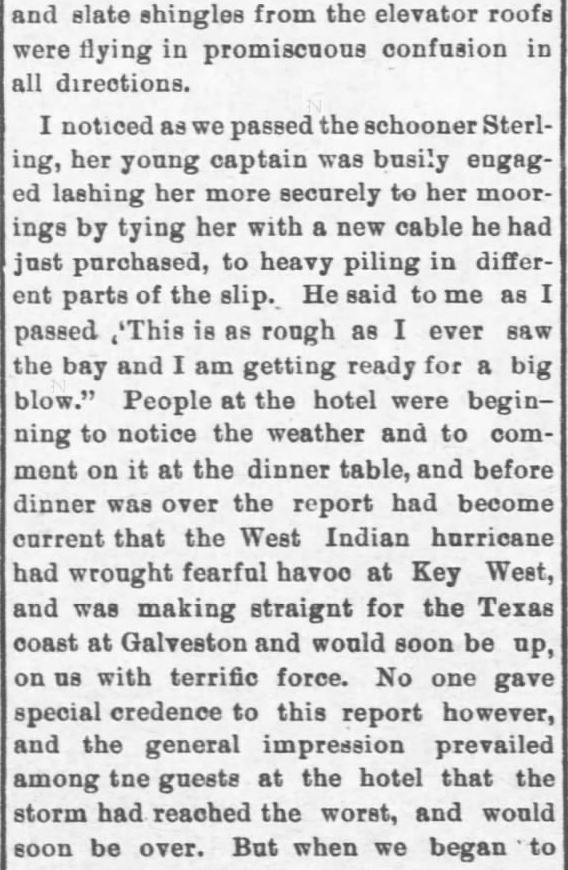 Galveston Storm Part 6. Salina Daily Republican-Journal of Salina, Kansas, September 18, 1900