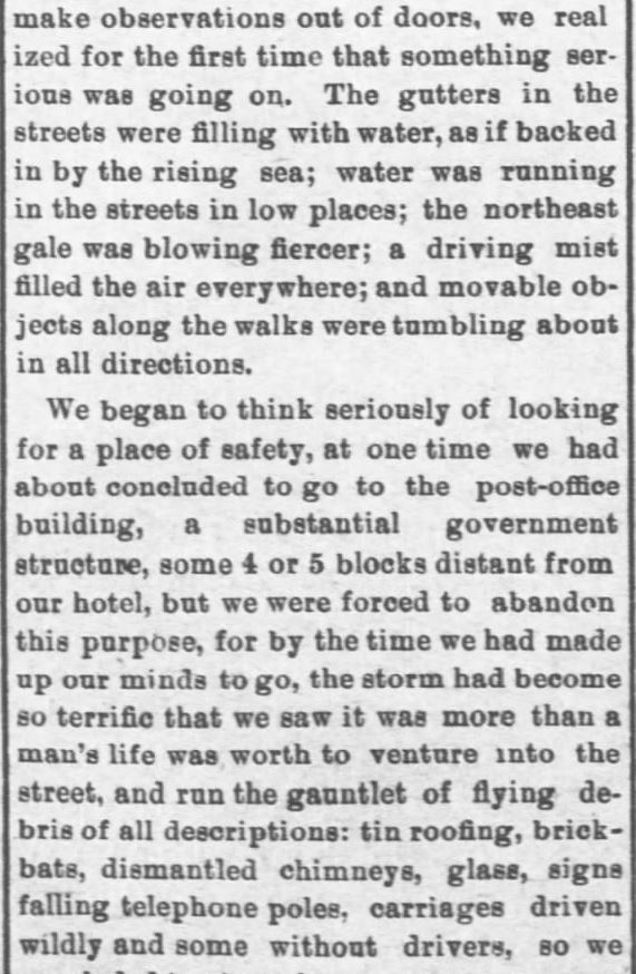 Galveston Storm Part 7. Salina Daily Republican-Journal of Salina, Kansas, September 18, 1900