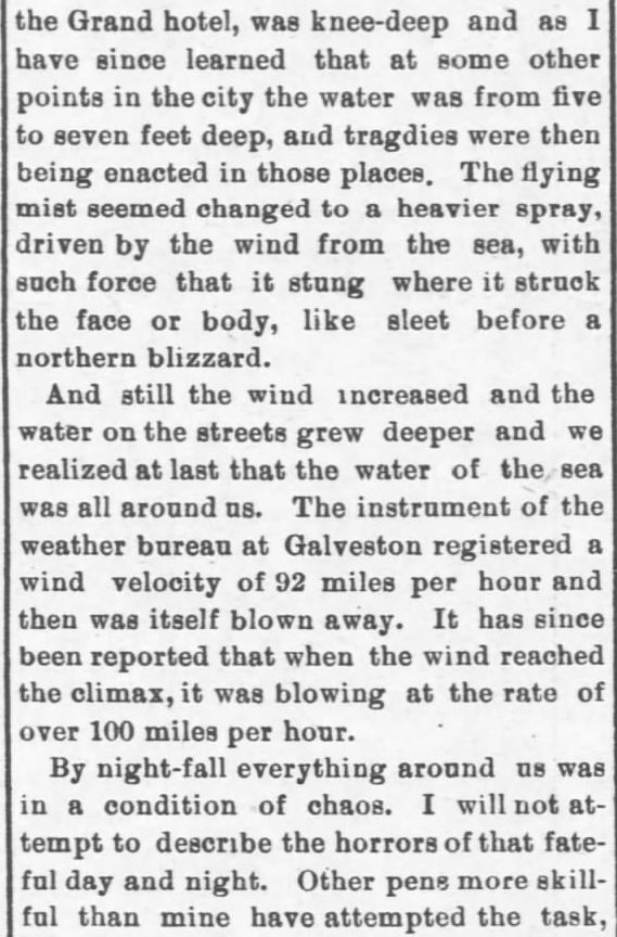 Galveston Storm Part 9. Salina Daily Republican-Journal of Salina, Kansas, September 18, 1900