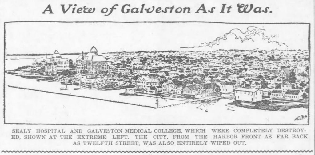 Galveston as it was. Image. The Weekly Star and Kansan of Independence, Kansas on September 21, 1900