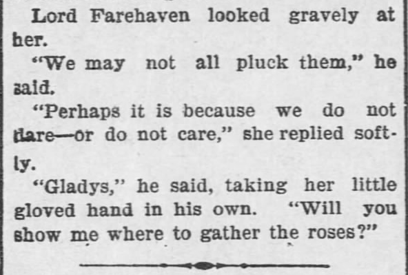 Like a Tale Told, Part 11, published in The Hays Free Press of Hays, Kansas on July 20, 1901.