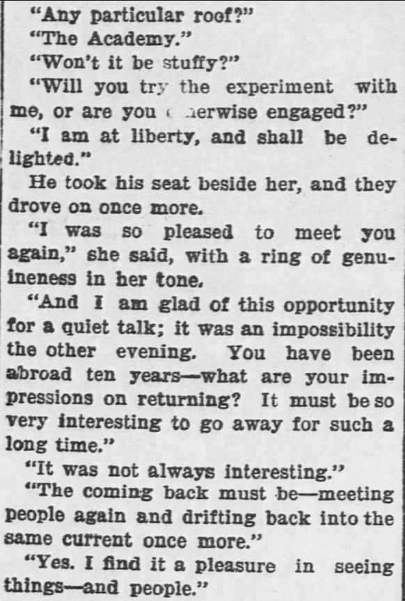 Like a Tale Told, Part 2, published in The Hays Free Press of Hays, Kansas on July 20, 1901.