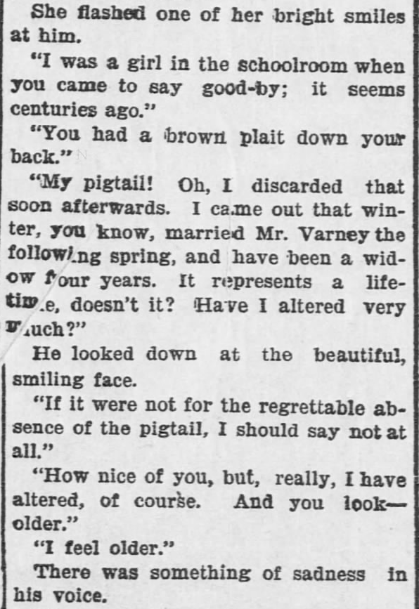 Like a Tale Told, Part 3, published in The Hays Free Press of Hays, Kansas on July 20, 1901.