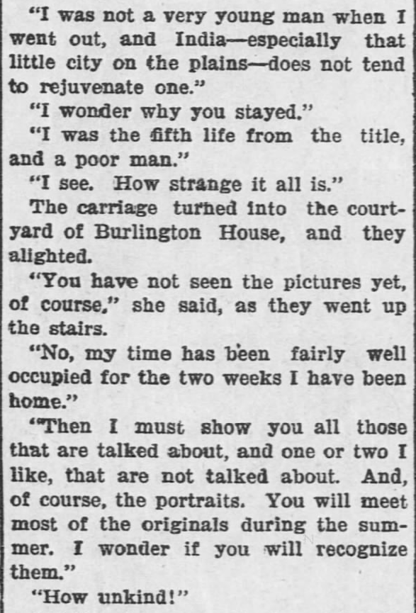 Like a Tale Told, Part 4, published in The Hays Free Press of Hays, Kansas on July 20, 1901.