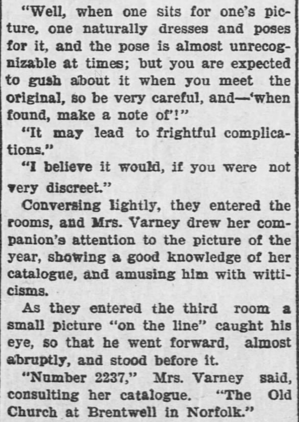 Like a Tale Told, Part 5, published in The Hays Free Press of Hays, Kansas on July 20, 1901.