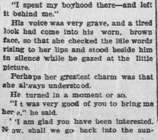 Like a Tale Told, Part 6, published in The Hays Free Press of Hays, Kansas on July 20, 1901.