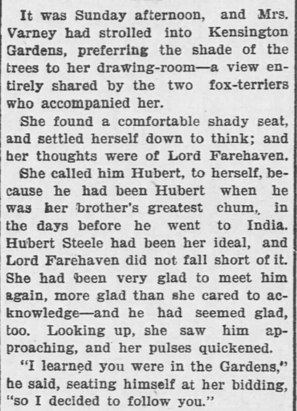 Like a Tale Told, Part 9, published in The Hays Free Press of Hays, Kansas on July 20, 1901.