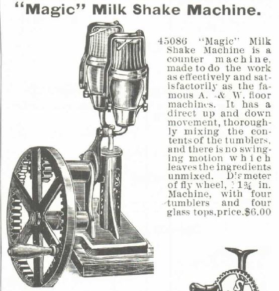 Magic Milk Shake Machine. 1895 Montgomery Ward Catalog