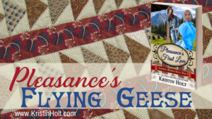 Kristin Holt | Pleasance's Flying Geese. Related to What Did Pioneers Use for Quilt Batt?