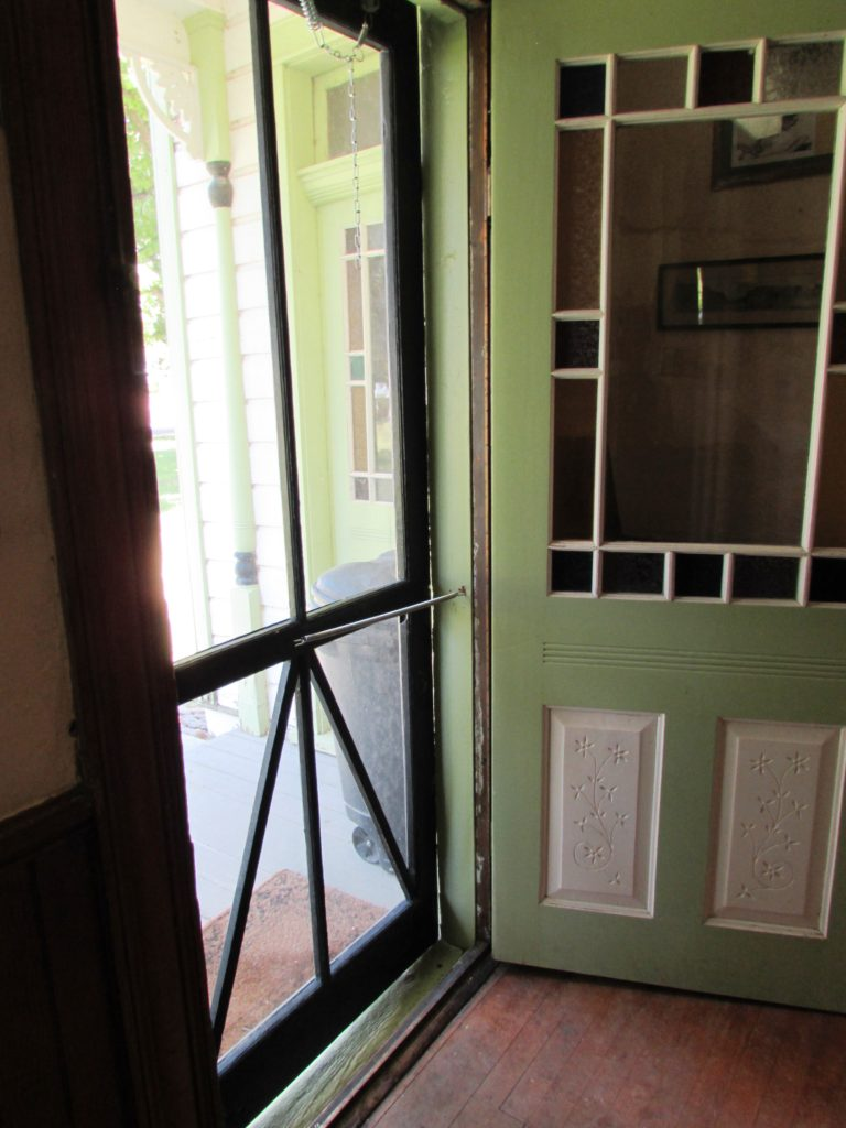 Screen Door. Stricker Mansion, Stricker Ranch, Twin Falls County, Idaho.