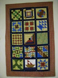 Underground Railroad Quilt, from The Edwards History and Geneological Center.