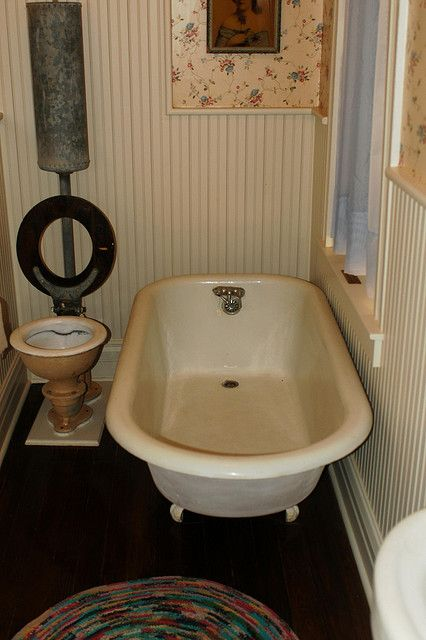1890's bathroom from the Clay County Museum in Henrietta, Texas.