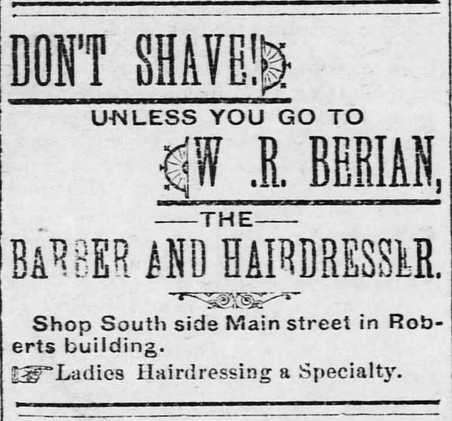 Kristin Holt | Victorian Ladies' Hairdressers. Osawatomie Graphic of Osawatomie, Kansas, on June 3, 1893.