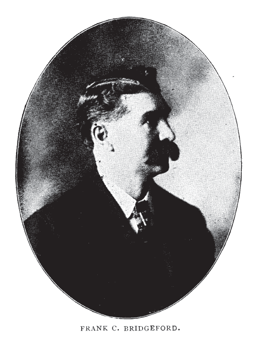Frank C. Bridgeford. Photograph from his book Bridgeford Barber Instructor and Toilet Manual.