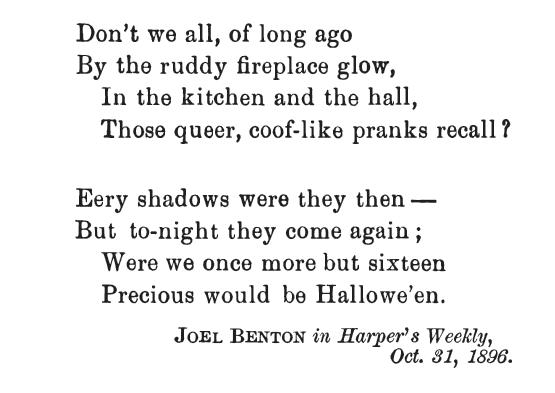 Halloween Poetry (part 2)