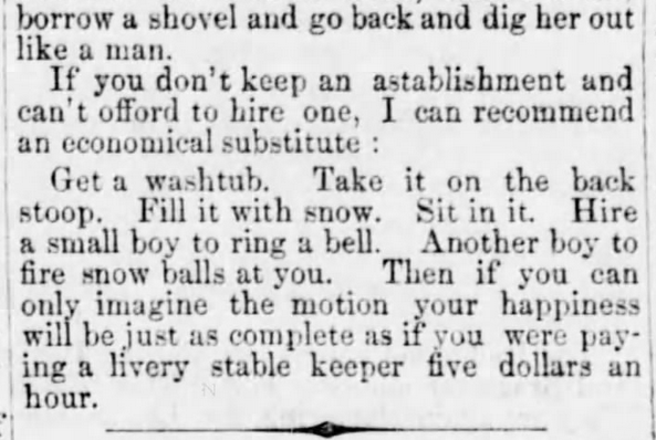 How to Conduct a Sleigh Ride, Part 3 of 3, published in Holmes County Farmer of Millersburg, Ohio, on January 26, 1865.