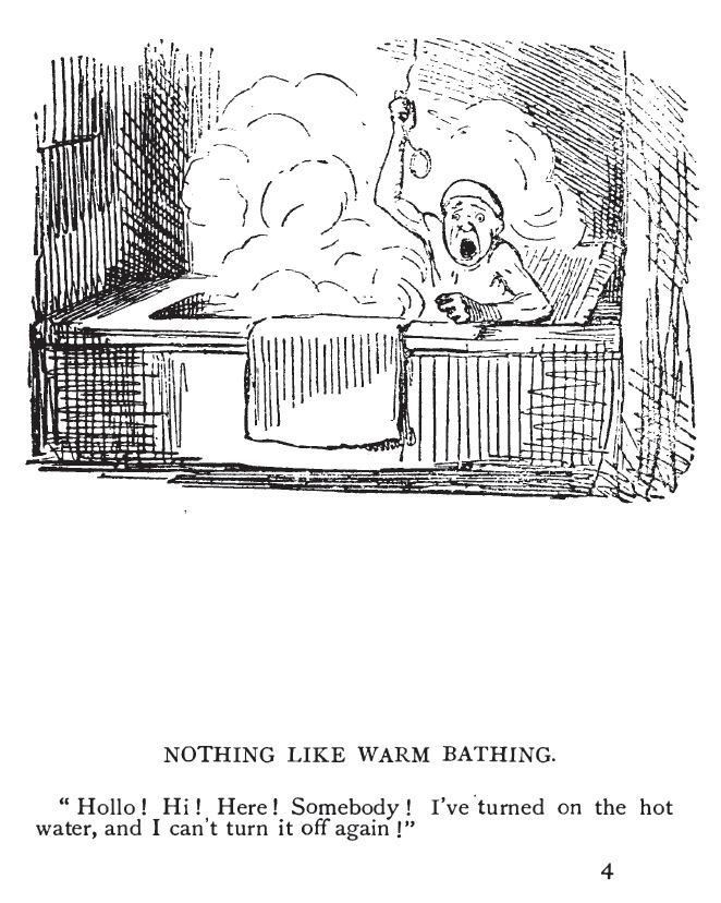 From Humorous Illustrations by John Leech (29 August 1817 – 29 October 1864 in London), published in London by Simpkin, Marshall, Hamilton, Kent & Co, and Glasgow: Thomas D. Morison.