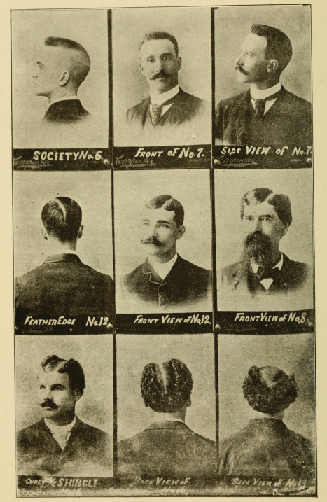 Men's Hairstyles, Image 2, from Barber Instructor and Toilet Manual