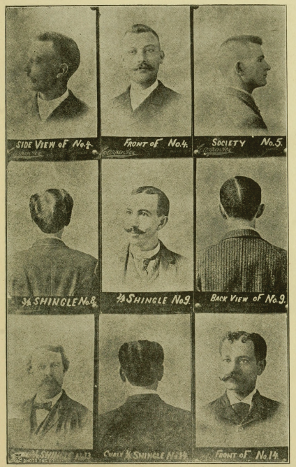 Men's Hairstyles, Image 1, from Barber Instructor and Toilet Manual