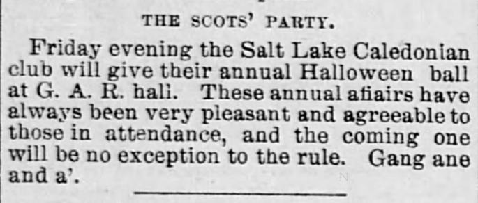 The Salt Lake Herald of Salt Lake City, Utah on October 29, 1890.