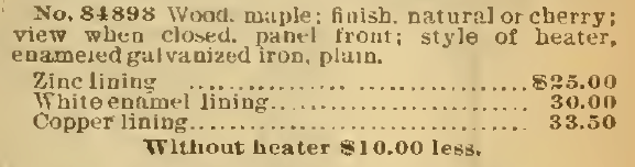 Self-heating bathtub, part 3, Sears, Roebuck & Co. 1898.