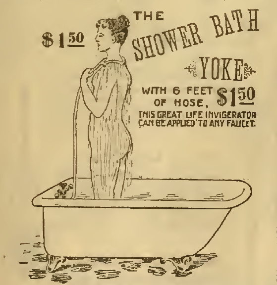 The Shower Bath, Part 1, Sears, Roebuck & Co. Catalog 1898.