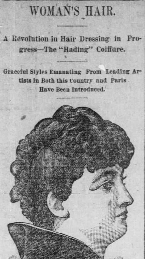 Woman's Hair, Part 1, published in the Fort Worth Daily Gazette of Fort Worth, Texas, on February 24, 1889.