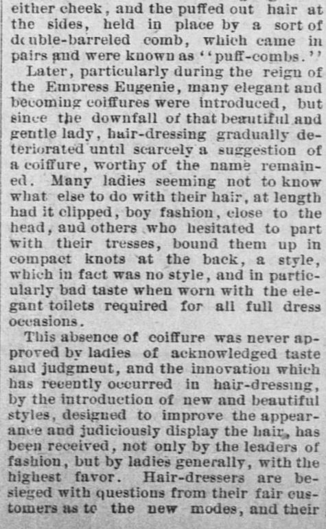 Forth Worth Daily Gazette of Fort Worth, Texas on February 24, 1889. Part 5.