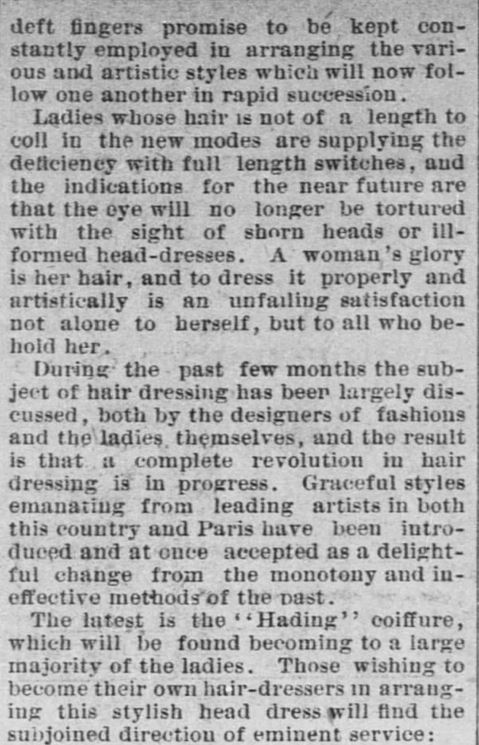 Forth Worth Daily Gazette of Fort Worth, Texas on February 24, 1889. Part 6.