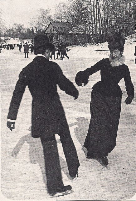 Skating in Central Park, 1890's, Image: courtesy of Pinterest