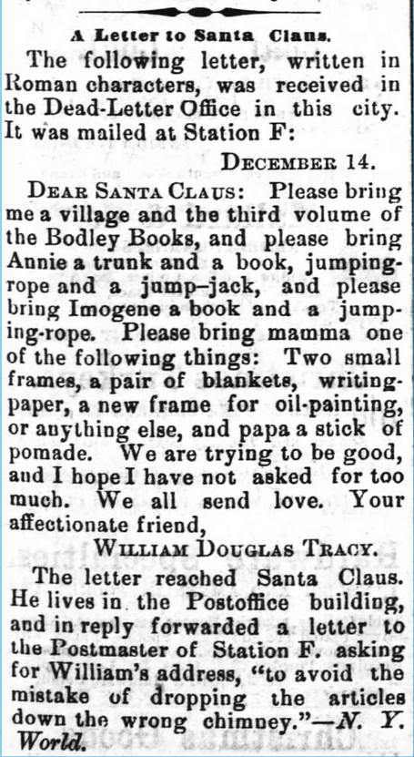 The Wilmington Morning Star of Wilmington, North Carolina, on December 24, 1878.