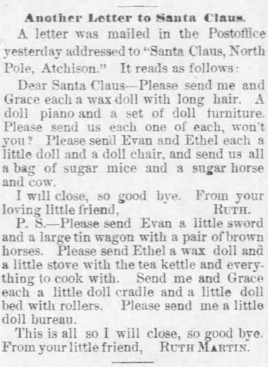 The Atchison Daily Champion of Atchison, Kansas, on December 21, 1883.