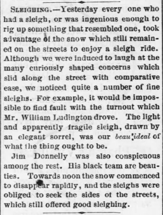 The Daily Kansas Tribune of Lawrence, Kansas on January 16, 1870.